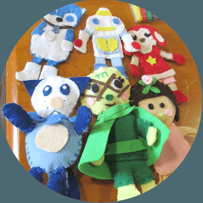 利用者さんが作った人形の写真