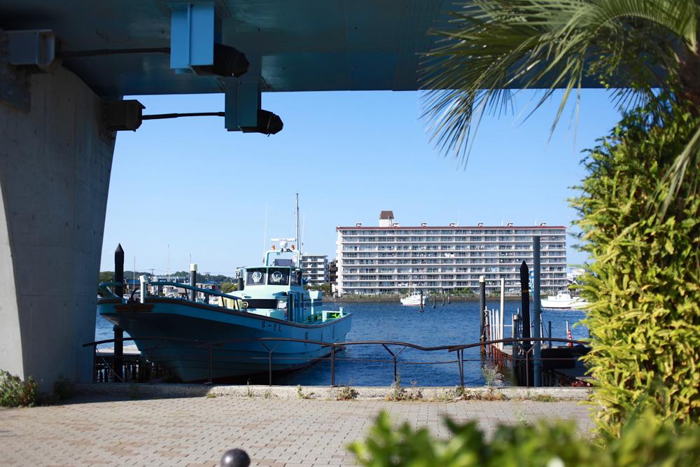 柳町ケアプラザ近くの、船着き場の写真